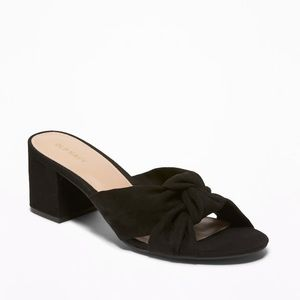 Old navy heel bow black shoes